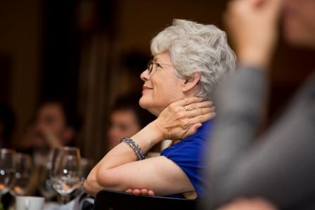 Joan watching, pensive 0